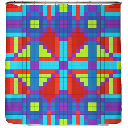 Duschvorhang Checkerboard 180×200 cm