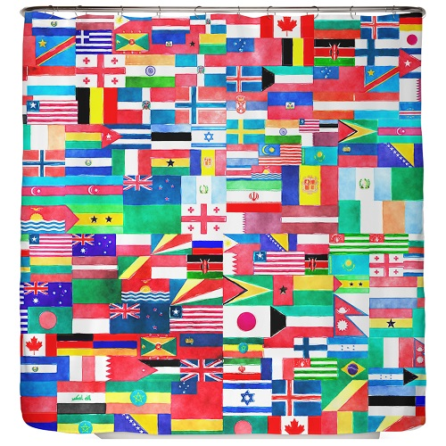 Duschvorhang Flagge 180×200 cm