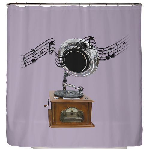 Duschvorhang Gramophone 180×200 cm