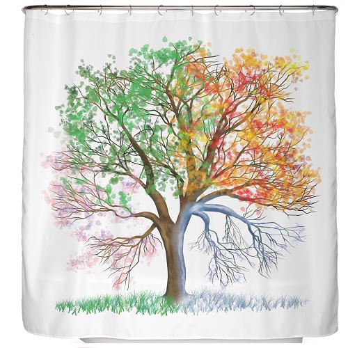 Duschvorhang Vier Jahreszeiten 180×200 cm