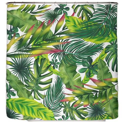 Duschvorhang Dschungel Blätter 180×200 cm