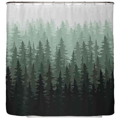Duschvorhang Tannen Wald 180×180 cm