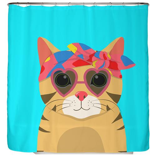 Duschvorhang Funky Cat 180×200 cm