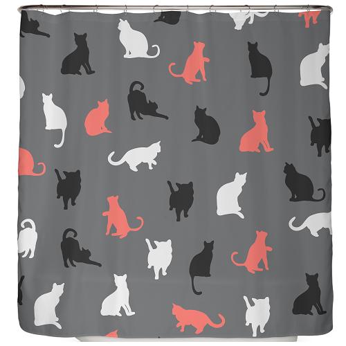 Duschvorhang Katzen 180×200 cm