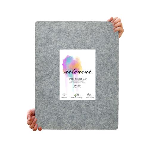 Bügelunterlage aus 100% Neuseeland Wolle zum Quilten & Basteln 43×33 cm