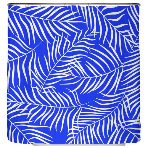 Duschvorhang Blaue Palmenblätter 180×200 cm