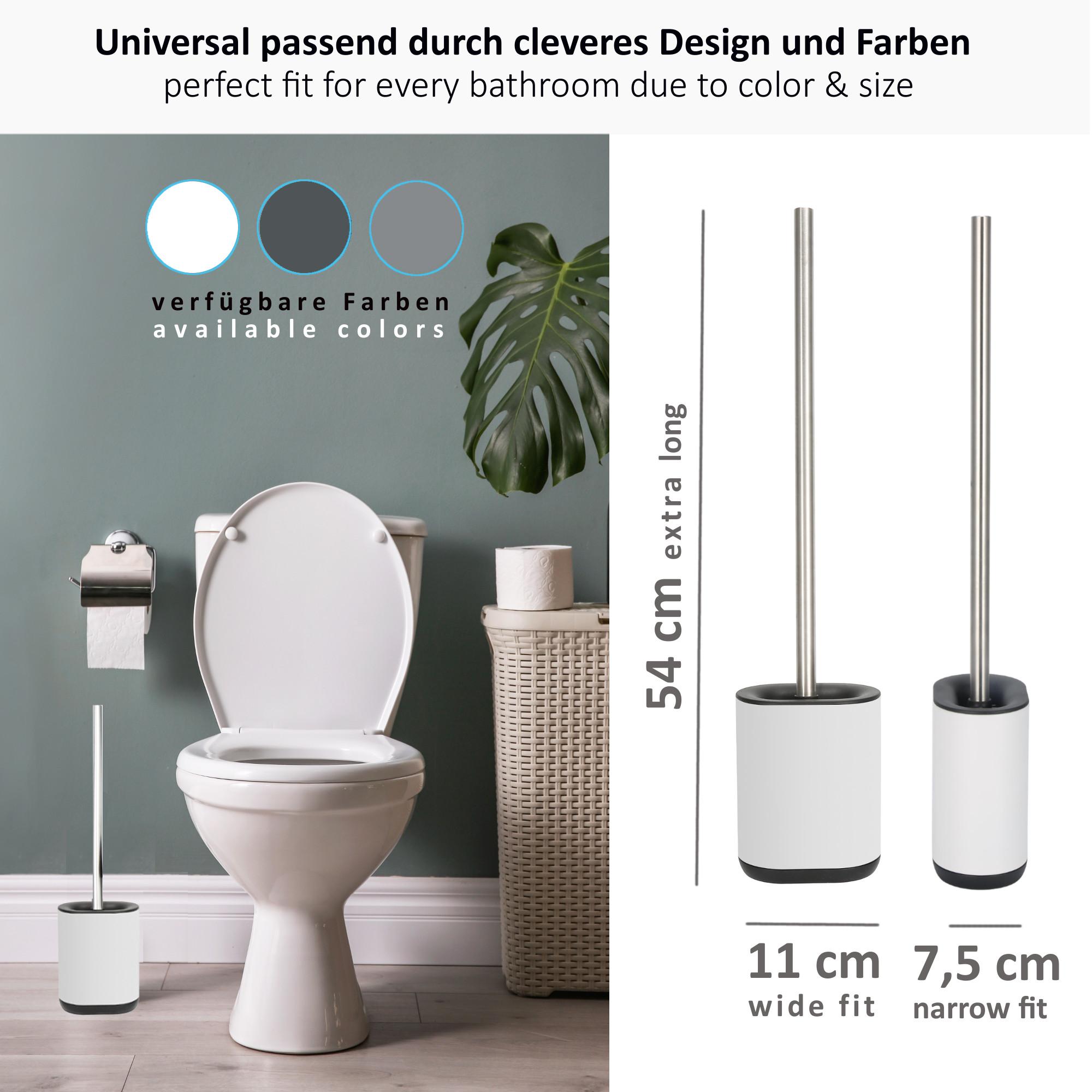 WC Garnitur Set Klobürste Bürstenhalter Bad Toiletten Bürste Bürstenset Bambus