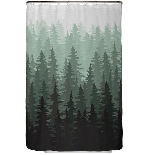 Duschvorhang Tannen Wald 120×200 cm